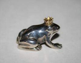 Vilmain Klinger V & K Sterling Frog Prince with Crown You Are My Prince ... - $48.00