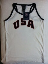 RALPH LAUREN GIRLS NEW WHITE 100% COTTON 2012 OLYMPIC TANK TOP SIZE XL(16) - $36.47