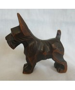 Vintage Hand Carved Wood Scottie Dog Terrier - $20.00