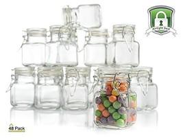 3 oz Small Glass Jars With Airtight Lids, Glass Spice Jars - Leak Proof ... - £35.98 GBP