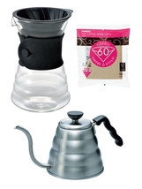 Hario V60 - 1.2 Liter Kettle, Decanter & Paper Filters - 3 Products Toge... - $79.19