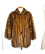 Irving Goldstein Furs Mink Coat Brown Fur Vintage L-XL Los Angeles  - $257.39