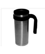 17 oz Double wall Stainless Steel Insulated Travel Mug Flip top spill pr... - $14.95