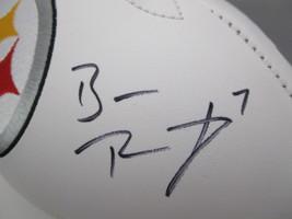 BEN ROETHLISBERGER / AUTOGRAPHED PITTSBURGH STEELERS LOGO WHITE FOOTBALL / COA image 3