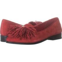 Anne Klein Dixie Tassel Flat Loafers 756, Red, 6 US - $24.95
