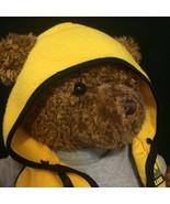 "GUND Stuffed Plush Wish Bear LUCK 26"" Brown Teddy Bear Yellow Fleece Hoo... - $18.00"