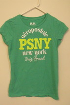 Girls Aeropostale Green Short Sleeve T Shirt Size XL - $5.95