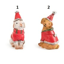 Christmas Dogs, Holiday Fairy Miniatures, Cake Topper, Holiday Town, Cak... - $4.99