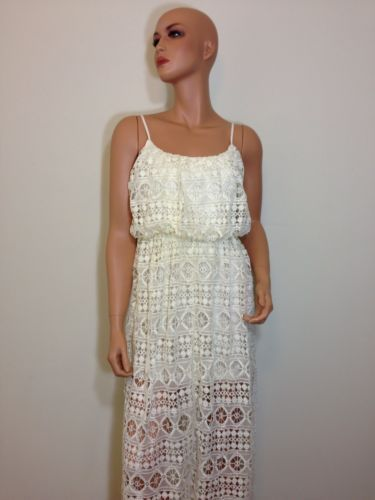 Cream Maxi lace dress Wedding deco 20s 30s inspired Gatsby SMALL 1bec48f67
