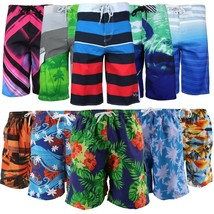 Surf Ocean Men's Slim Fit Beach Sport Swimwear Bathing Suit Trunks Board Shorts