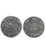 1450-1462 Campobasso Billon Tornese Coin F+ Molise Italy Nicola II di Mo... - ₨8,986.46 INR