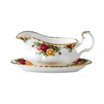 Royal Albert Old Country Roses Gravy Boat & Stand Brand New with tag 2 p... - $109.84
