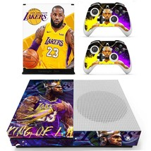 Xbox one S Slim Console Skin Decals Lebron James NBA Lakers Vinyl Cover Stickers - $14.14