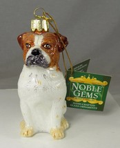English Bulldog Christmas Holiday Ornament NOS Kurt Adler Noble Gems Tag... - $14.50