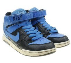 Nike Mogan Mid 2 JR Blue Black High Tops Sneakers US 4Y Womens 5.5 40771... - $16.78