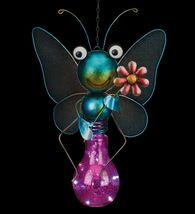 Regal Art & Gift Metal & Glass Butterfly Hanging Solar Light Garden Decor image 9