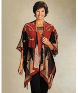 Cocoon House Umbrella Print Kimono Silk Jacket One Size - $119.99