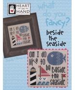 Fancy: Bedside the Seaside cross stitch chart Heart in Hand - $7.20