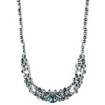 GIVENCHY DRAMA  COLLAR CRYSTAL SILVERTONE FRONTAL NECKLACE NWT$195 - $58.05