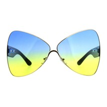 Womens Super Oversized Sunglasses Ribbon Shape Butterfly Fashion Shades - $12.95