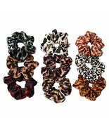 9 Pcs Satin Hair Scrunchies Leopard Print Hair Band Ponytail Holder Elas... - $17.69