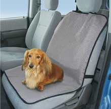 PANDA SUPERSTORE Striped Single Seat Dog Car Seat Cover Light Gray- One Size Fit