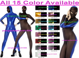 Sexy 15 Color Shiny Metallic and Black Spandex Silk Suit Catsuit Costume... - $39.99