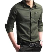 Men Shirt 2018 New Solid Color Men'S Long-Sleeved Dress Shirt Men'S Busi... - $35.16+