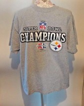 Pittsburgh Steelers L Large Shirt Gray Football Super Bowl Champions Cotton A8 - $4.99