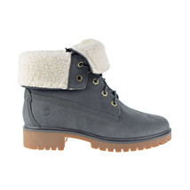 Timberland Jayne WP Fleece Fold Down Women's Boot Dark Grey Nubuck TB0A1SGI - $160.00