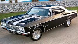 1966 Chevy Impala Super Sport black and white   24 x 36 INCH   sports car - $18.99