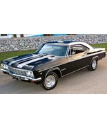 1966 Chevy Impala Super Sport black and white | 24 x 36 INCH | sports car - $18.99