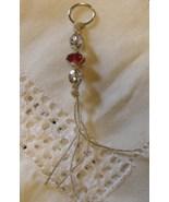 Hemp Macrame Key Chain Handcrafted Custom Made Gemstones Crystals Beads ... - $11.99