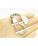 925 Sterling Silver - Vintage Half Circle Foreign Language Key Ring - T1073 - $46.24