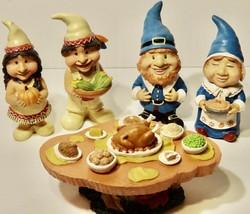 Thanksgiving GNOME Thanksgiving Feast Decor Resin Gnomes - $14.84