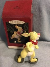 Hallmark Keepsake Ornament Rabbit Frying Pan Snowshoes Disney Winnie the... - $14.36