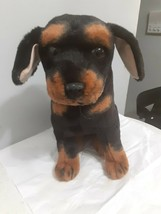 "Kellytoy rottweiler Dog Plush 19"" Realistic. - $34.65"