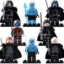 8pcs/set Game of Thrones Jon Snow White Walker Samwell Jeor Mormont Minifigures  - $12.99