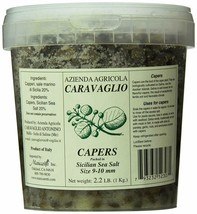 Caravaglio Salted Capers from Salina ( 6-7 mm), 2. 2 Lb(1Kg) Tub - $32.07