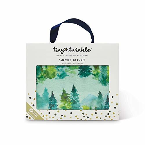 Tiny Twinkle Kaffle Swaddle Blanket - Watercolor Forest - Soft and Silky Baby Bl