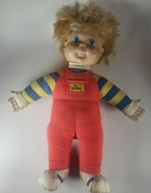 Vintage Playskool Hasbro My Buddy Doll Blonde Hair Blue Eyes Overalls. N... - $19.30