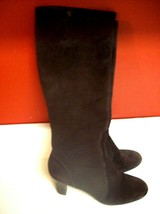 Ann Taylor Loft Brown Suede Leather Knee High Boots Size 6.5M - $19.24