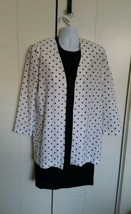 vintage Polka Dot Print sz 12/14 Jessica Howard Dress Black & White 2 Pi... - €26,87 EUR