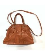 Tiffany & Fred handbag purse orange snakeskin long shoulder strap - $24.75