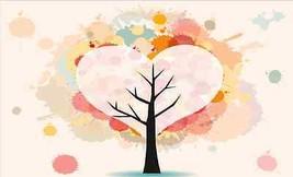 3D Heart-shaped Baum 15467 Fototapeten Wandbild Fototapete BildTapete Familie DE - $52.21+