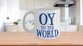 Oy Mug Funny Gift Idea Coffee Cup Hannukah Blue Bubbe Zayde Mom Ceramic ... - $14.65+