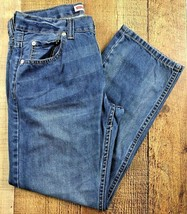 Levi's 505 Regular Med Wash Straight Leg Boy's Jeans Size 10 Husky 28x25 - $19.75