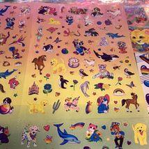 VTG Lisa Frank Poster Size Sticker Quad SUPER HTF About 5 Stickers Missing image 3
