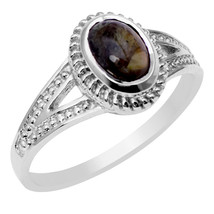 Handmade Tourmaline Gemstone 925 Sterling Silver Jewelry Ring Sz 6.5 SHR... - $20.09
