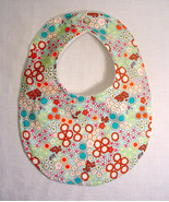Clearance Baby Bib, Girl  Baby Shower Gift  Blossoms & Buds , Bib Minky ... - $4.99